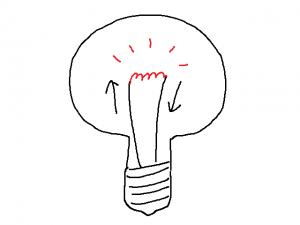 電球と同じ仕組み