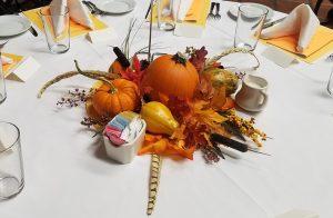 テーブルのアレンジ