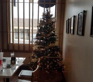 店内にクリスマスツリーが飾ってありました!!