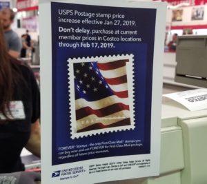 切手代値上げ