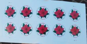 クリスマス仕様のGlobal Forever Stamp
