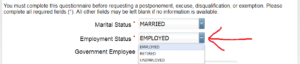 Employment Statusは雇用情報。