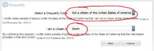 アメリカの市民ではないです。