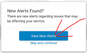 「View New Alerts」をタップして見ます