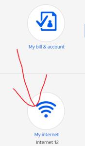 「My internet」をタップ