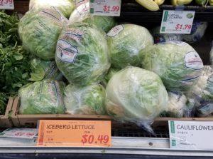 レタス、1玉49¢