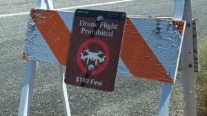 ちなみにドローン飛行は禁止