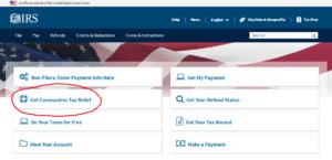 「Get Coronavirus Tax Relief」をクリック!!